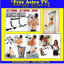 Man Lady Iron Gym Bar Upper Body Workout Fitness Abs Push Up Slim Exer