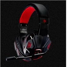 PC Gaming LED Light Headset Mic Head Set VR Box Game Headphone Red