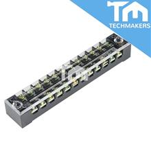 15 POLE FIXED BARRIER TERMINAL BLOCK 600V 15A 15P