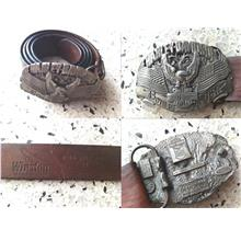**Incendeo** - Genuine Harley Davidson Buckle with Winston Leather Bel