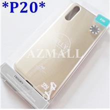 "GOOSPERY Pearl Jelly TPU Case Cover Huawei P20 (5.8"") *CLEAR, GOLD"
