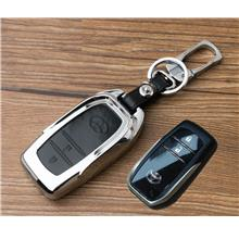 Toyota Hilux Revo / New Innova Keyless Remote Metal Leather Key Cover