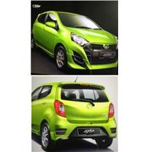 Perodua Axia G Spec Gear Up Style Full Set Skirting Body Kit PU wPaint