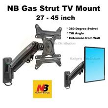 NB F425 27 to 45 Inch Gas Strut TV Wall Monitor Bracket Mount 2428.1