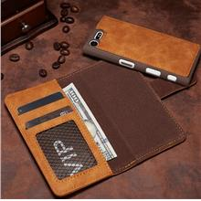 Sony Xperia X compact Case Casing Cover 2 in 1 leather wallet + Gift