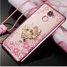 Huawei Y7 Prime Diamond Blink Blink Case Casing Cover + Ring Holder