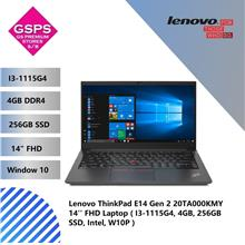 Lenovo ThinkPad E14 Gen 2 20TA000KMY 14'' FHD Laptop ( I3-1115G4, 4GB, 256GB S