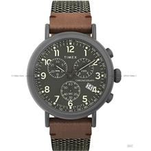 TIMEX TW2U89500 (M) Standard Chronograph 41mm Fabric Leather Green