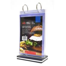 Menu Stand Advertising Board with Loose Leaves