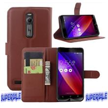 ??? Zenfone 2 - 5.5 inch Leather Texture TPU Standing Casing Case
