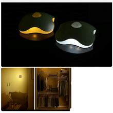 Rechargeable LED Night Light Sensor Four Leaf Clover lamps Body Motion