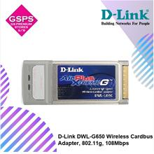 [ Clear Stock ] D-Link DWL-G650 Wireless Cardbus Adapter, 802.11g, 108Mbps
