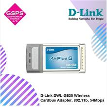 D-Link DWL-G630 Wireless Cardbus Adapter, 802.11b, 54Mbps