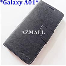 Card Stand Fancy Diary Case Flip Cover Samsung Galaxy A01 (SM-A015F)