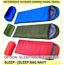 Waterproof Outdoor Camping Hiking Travel Sleep - [SLEEP BAG NAVY BLUE]