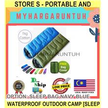 Store s - PORTABLE And Waterproof Outdoor Camp - [SLEEP BAG NAVY BLUE]