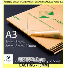 ACrylic Sheet Transparent Clear Plexiglas Perspex Casting ACry - [3MM]