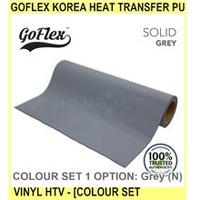 Goflex Korea Heat Transfer Pu Vinyl Htv - [colour SET 1] - [GREY (N)]