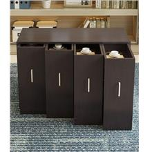 Simple Modern Bookcase Storage Bookshelf Cabinet Balcony Locker Drawer