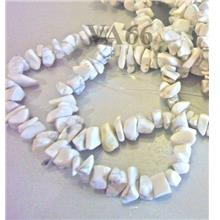 White Howlite Semi Precious Gemstone Chips Gemstones