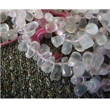 10mm Teardrop 2-Way Rose Quartz Semi Precious Gemstone