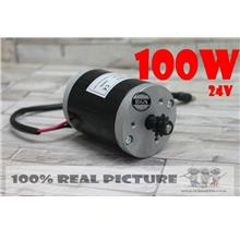 DC 24V 100W Electric brush Motor FOR electric bicycle electric scooter