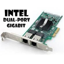 Intel dual-port Gigabit Ethernet Pci-E Network Card (9402PT 82571EB)