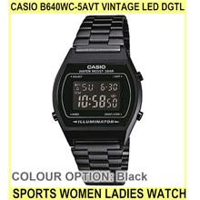 Casio B640wc-5avt Vintage LED dgtl Sports Women Ladies Watch - [BLACK]