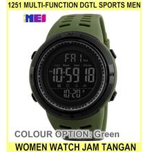 1251 Multi-function dgtl Sports Men Women Watch Jam Tangan L - [GREEN]