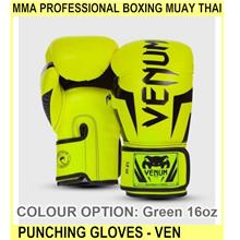 Mma Professional Boxing Muay Thai Punching Gloves - Ven - [GREEN,16OZ]