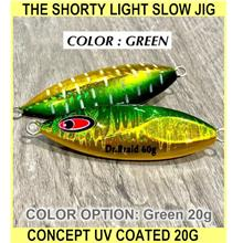 The Shorty Light Slow Jig Concept Uv Coated Jig 20g 30g - [GREEN,20G]