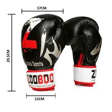 10oz Mma Muay Thai Boxing Punching Gloves Kick Sports Gloves - [BLACK]