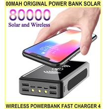 00mah ORIGINAL Power Bank Solar WIRELESS Powerbank Fast Charger 4 USB