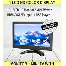 1 Lcd Hd Color Display Monitor + MINI Tv With HDMI/VGA/av Input/speake