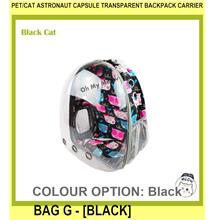 Pet/cat Astronaut Capsule Transparent Backpack Carrier Bag G - [BLACK]
