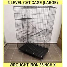 3 Level Cat Cage (large) Wrought Iron 36inch l X 24inch w X 50inch h