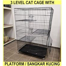 3 Level Cat Cage With Platform / Sangkar Kucing 3 Tingkat - LARGE