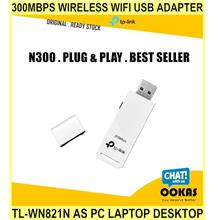 300Mbps WIRELESS Wifi USB Adapter Tl-wn821n As Pc Laptop Desktop Dongl