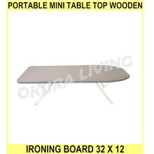 PORTABLE MINI Table Top Wooden Ironing Board 32 X 12 ( 80 X 30 Cm ) Pa