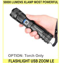 50000 Lumens Xlamp Most Powerful Flashlight USB Zoom LE - [TORCH ONLY]