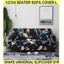 1/2/3/4 Seater Sofa Cover L Shape Universal Slipcover Str - [A,SINGLE]
