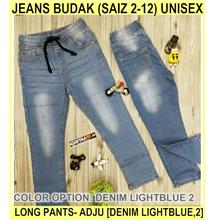 Jeans Budak (saiz 2-12) unisex (long Pants- Adju - [DENIM LIGHTBLUE,2]