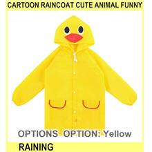 Cartoon Raincoat Cute Animal Funny Rain Coat Raining Rain C - [YELLOW]
