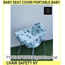 Baby Seat Cover PORTABLE Baby Chair Cover Safety Ny - [LIGHT BLUE CAT]