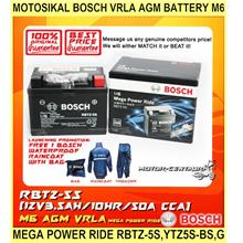 Motosikal Bosch Vrla Agm Battery M6 Mega Power Ride Rbtz-5s,ytz5s-bs,g