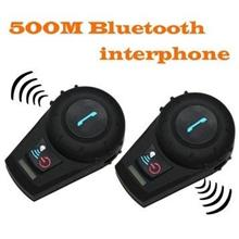 2 x 500M Motorcycle Bluetooth Helmet Interphone (BH-03).