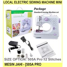 Local Electric Sewing Machine MINI Mesin Jahi - [505A PRO 12 STITCHES]