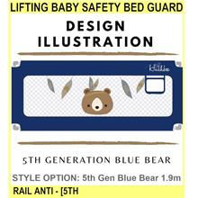 Lifting Baby Safety Bed Guard Bed Rail Anti - [5TH GEN BLUE BEAR,1.9M]