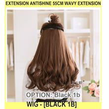 Extension Antishine 55cm Wavy Extension Wig - [BLACK 1B]