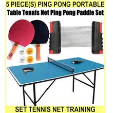 5 PIECE(s) Ping Pong PORTABLE SET Table Tennis Net Training Profession